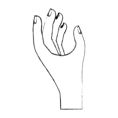 hand taking isolated icon vector illustration design Stock fotó - 99379495