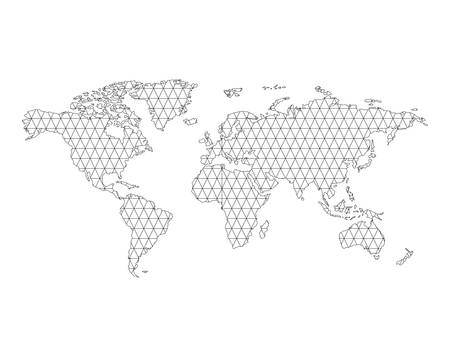 world map geography icon vector illustration design Illusztráció