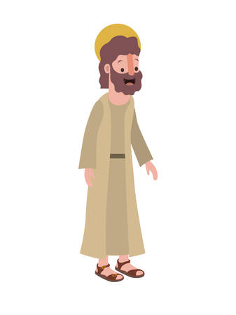 Apostle of Jesus with halo character vector illustration design Stock Vector - 100116011