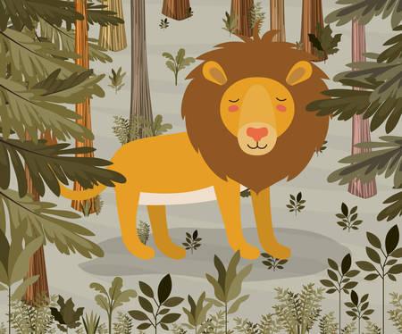 Loin in the jungle scene design