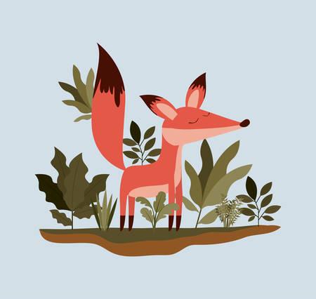 Fox in the jungle scene design