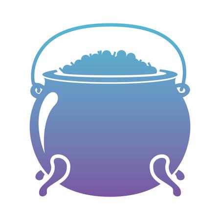 Cauldron with treasure icon