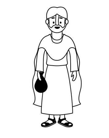 apostle of Jesus character vector illustration design
