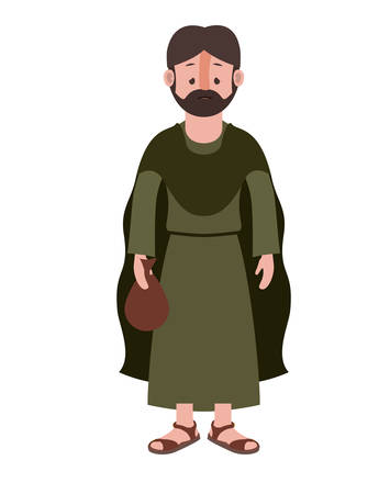 apostle of Jesus character vector illustration design