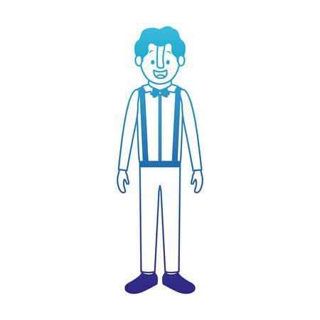 man with old suit vector illustration design Illustration