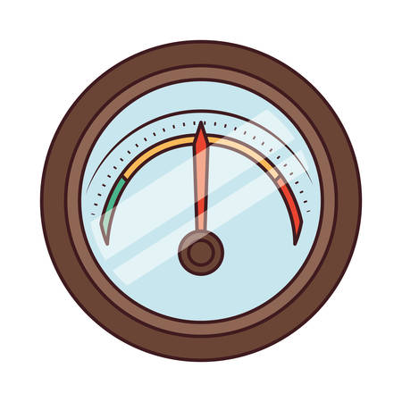 preasure gauge measure icon vector illustration design Ilustración de vector