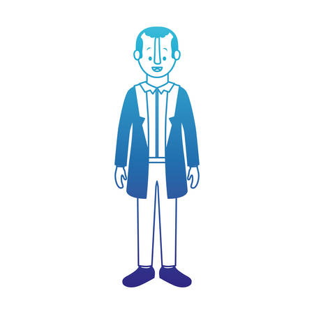 Man with old suit vector illustration design