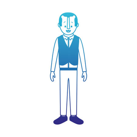Man with old suit with vest vector illustration design.