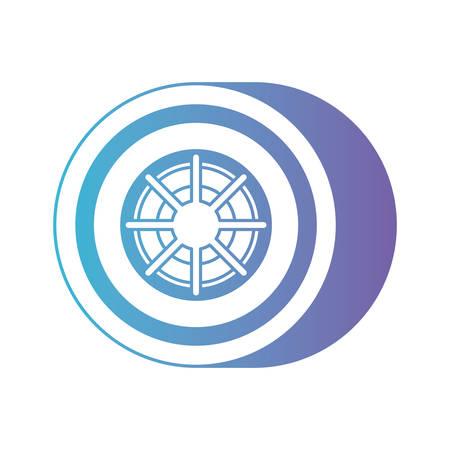 isometric car wheel icon vector illustration design Illustration