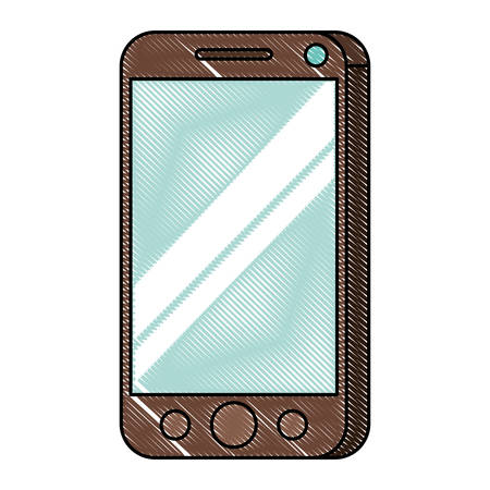 Isometric smartphone isolated icon vector illustration design