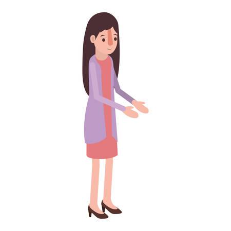 Woman avatar character design Illustration