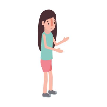 Little girl avatar character design Çizim