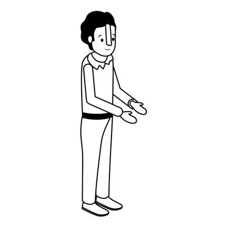 isometric man avatar character vector illustration design Illustration