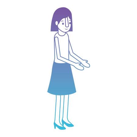 isometric woman avatar character vector illustration design Illustration