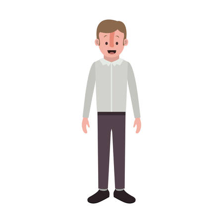 Man with old suit vector illustration design.