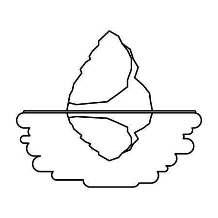 iceberg floating in the water vector illustration design Illustration