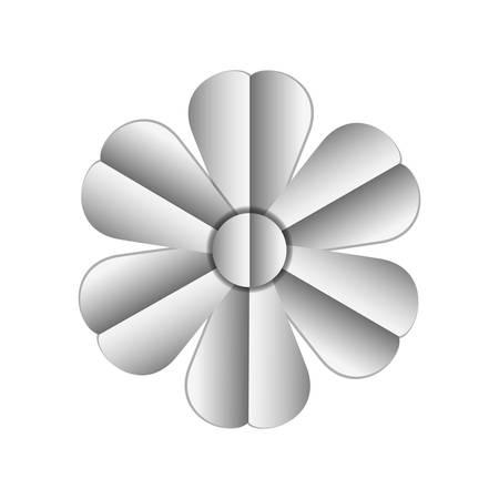 beautiful flower silver decoration vector illustration design