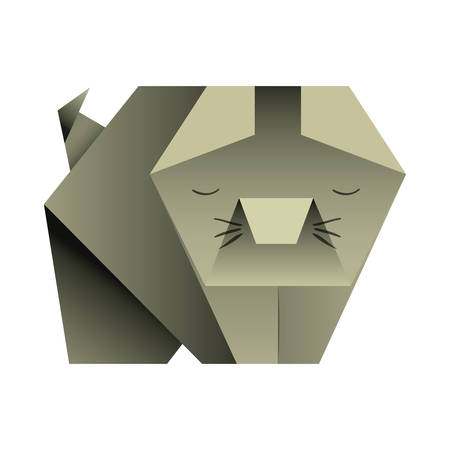cut origami paper icon vector illustration design Standard-Bild - 101497137