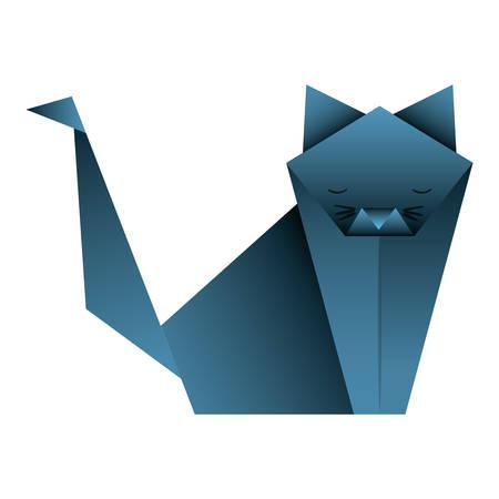cut origami paper icon vector illustration design Standard-Bild - 101497143