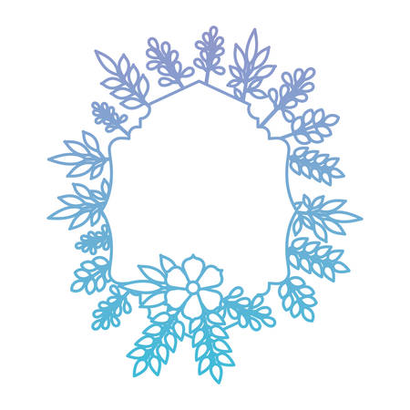 elegant frame with floral decoration vector illustration design 矢量图像