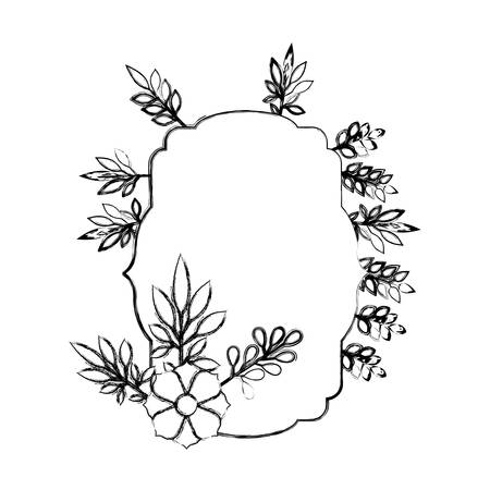 elegant frame with floral decoration vector illustration design Illustration