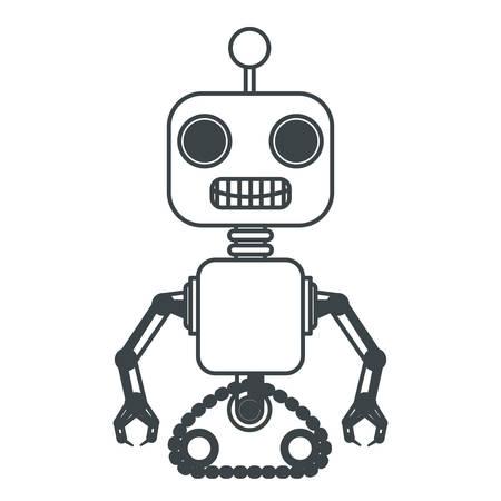 robot machine isolated icon vector illustration design