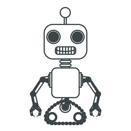 robot machine isolated icon vector illustration design