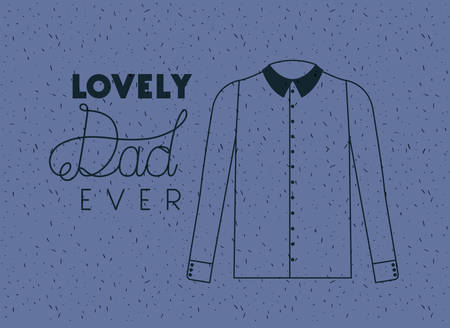 happy fathers day card with elegant shirt vector illustration design