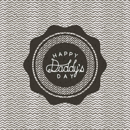 happy fathers day lace vector illustration design