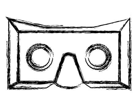reality virtual mask technology vector illustration design