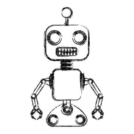 machine robot isolé icône du design d & # 39; illustration vectorielle