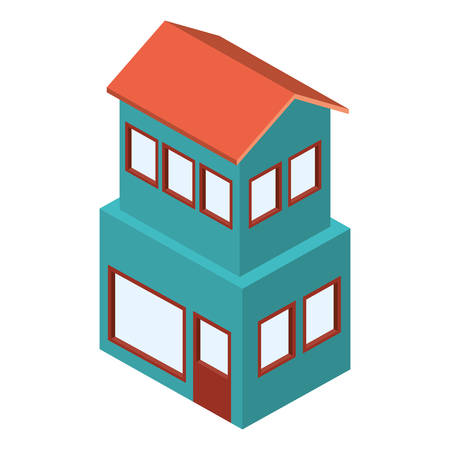 building construction isometric icon vector illustration design Illustration