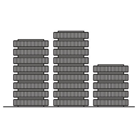 tower server isometric icon vector illustration design