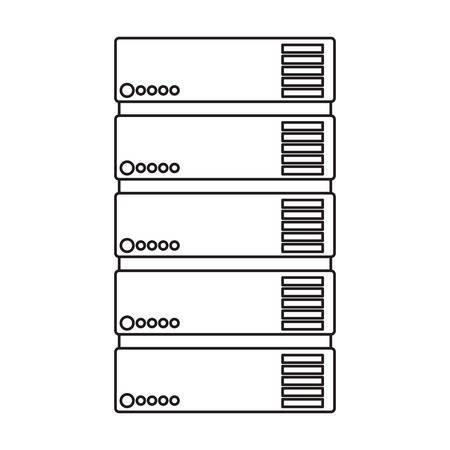 tower server isometric icon vector illustration design Фото со стока - 102458491