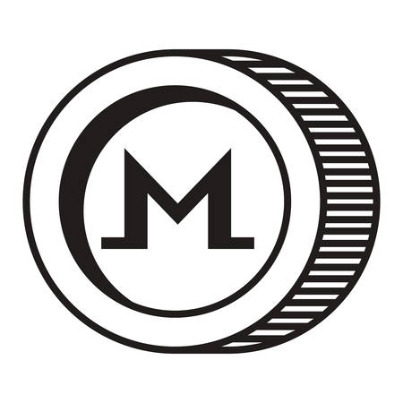 cryptocurrency monero coin isolated icon vector illustration design