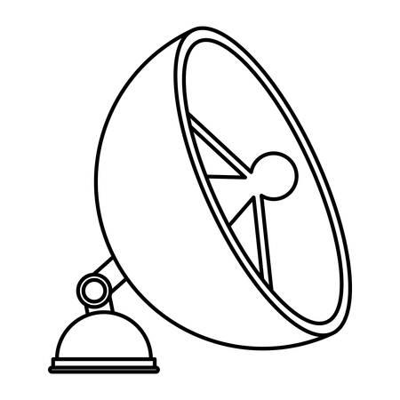 satellite antena isolated icon vector illustration design