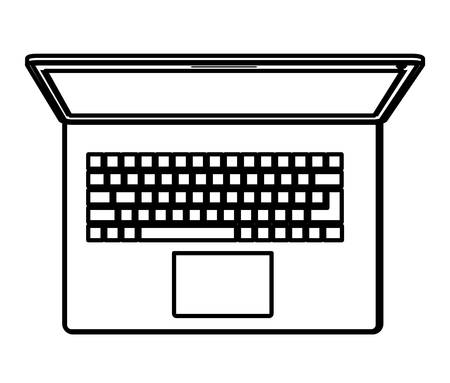 laptop computer isolated icon vector illustration design
