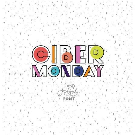 ciber monday message with hand made font vector illustration design Foto de archivo - 103025127