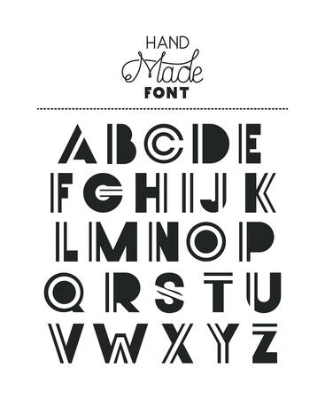 hand made font alphabet vector illustration design 矢量图像