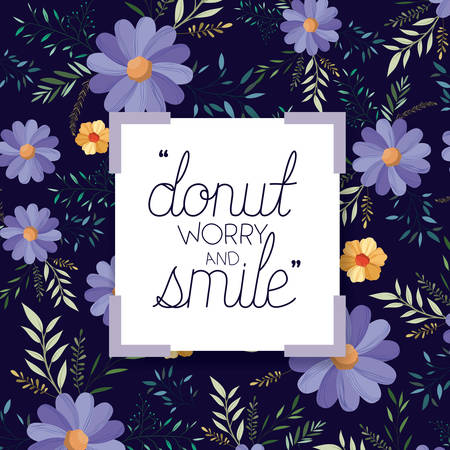 make it happy message with hand made font vector illustration design