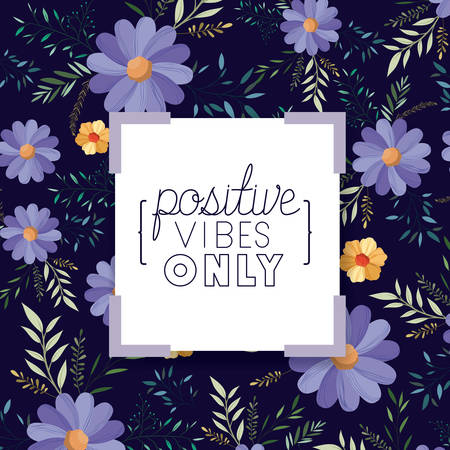 positive attitude message with hand made font vector illustration design
