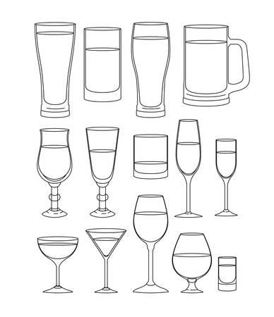 best drinks set icons vector illustration design