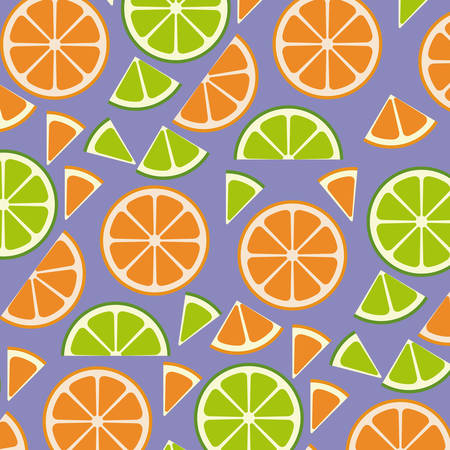 citrus fruits sliceds pattern background vector illustration design