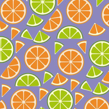 citrus fruits sliceds pattern background vector illustration design