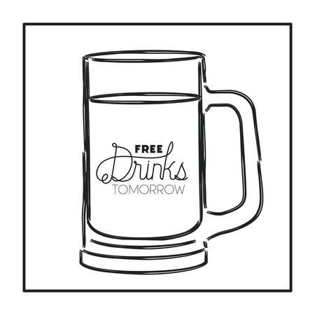 best drink jar drawn vector illustration design