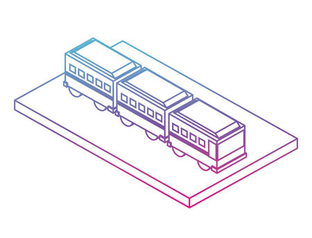 articulated bus transport isometric icon vector illustration design Illustration