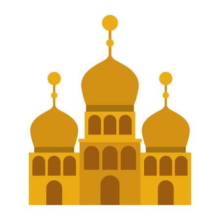 arabic castle building facade vector illustration design