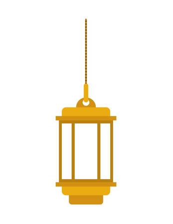 traditional arabic lamp hanging vector illustration design Illustration