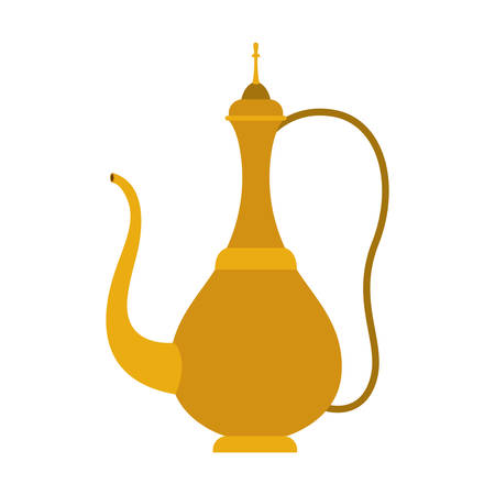 arabic traditional teapot icon vector illustration design