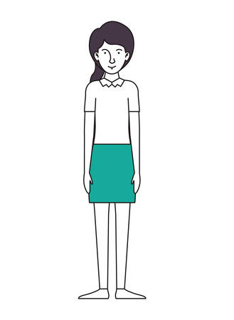 beautiful and young woman character vector illustration design Stock Illustratie